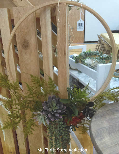 Shop local succulent hoop wreath