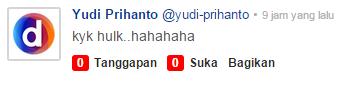 Komentar Netizen: foto wajah Patung Pancoran kayak Hulk