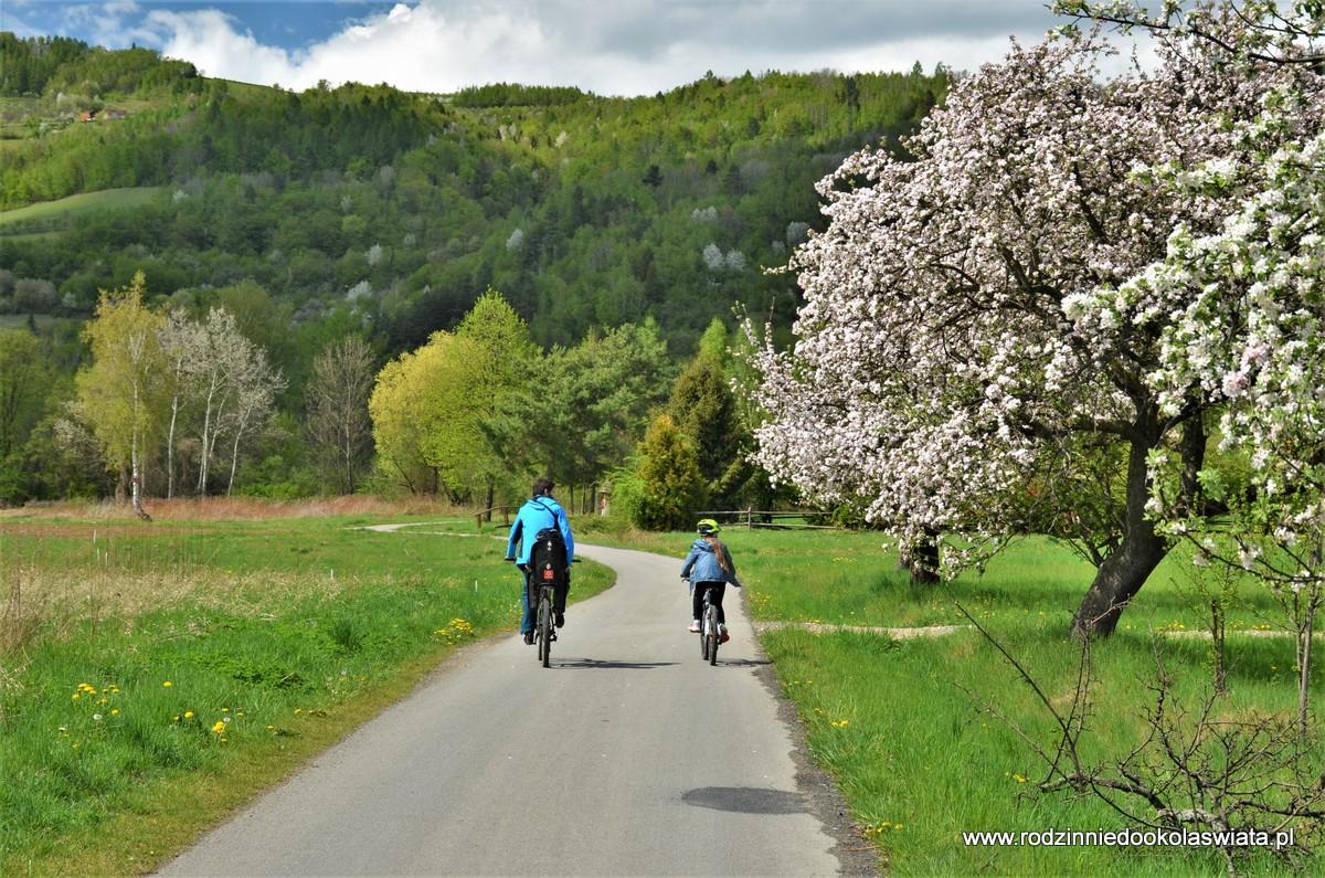 Velo Dunajec- z Zabrzeży do Kadczy, czyli rowerowo przez gminę Łącko