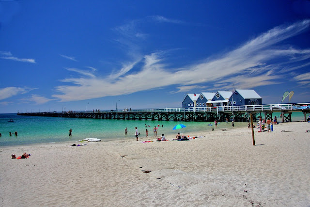 This is Busselton beach - half an hour from our home - white sand, sunshine and peace and serenity