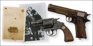 Clyde Barrow's Colt 45 gun