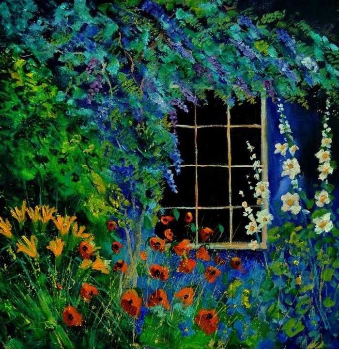 Pol Ledent. Современный художник-самоучка. Пейзажи и цветы 21