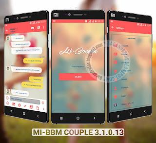 BBM Mod Mi Coplue theme Versi 3.1.0.13 APk terbaru