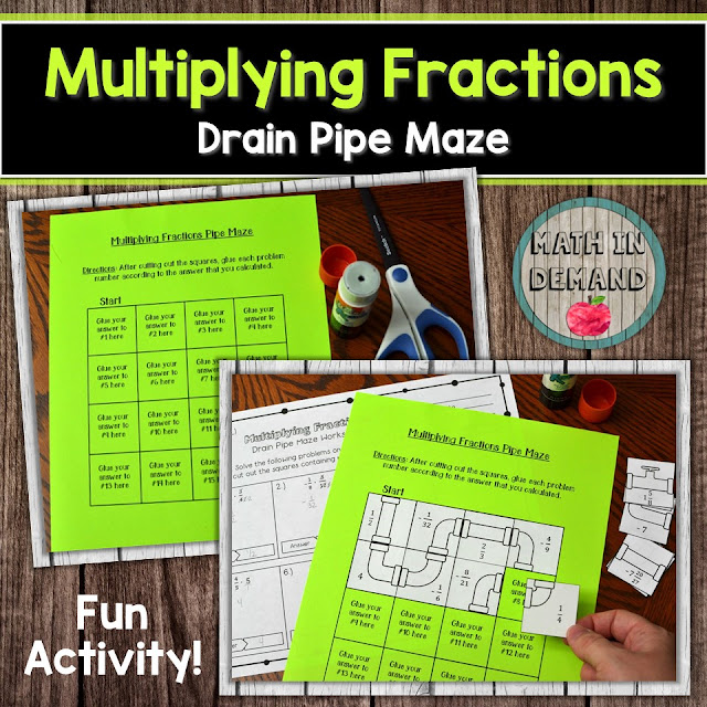 Multiplying Fractions Drain Pipe Maze
