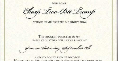 Angrivated Best Wedding Invite and Best Wedding Note