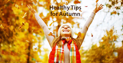 Woman enjoying healthy exercise on an autumn day.