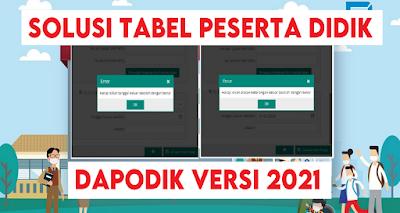 Solusi Mengatasi Tabel Peserta Didik Aplikasi Dapodik Versi 2021
