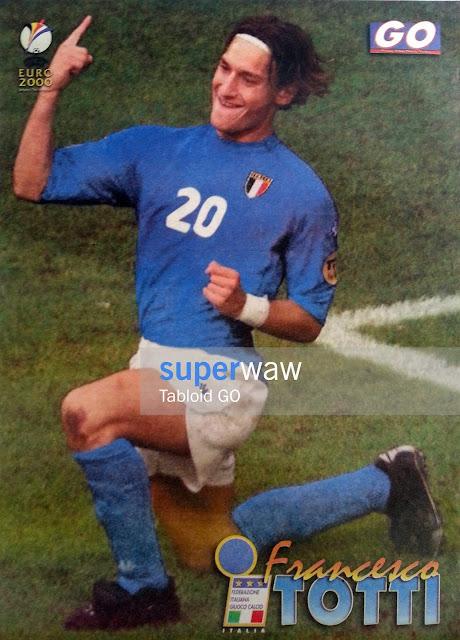 Poster Francesco Totti Italia 2000
