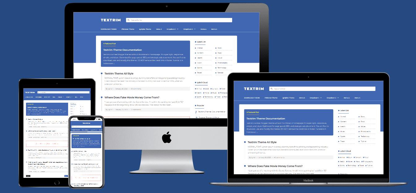 textrim blogger template, template blogger seo friendly, download template blogger premium gratis