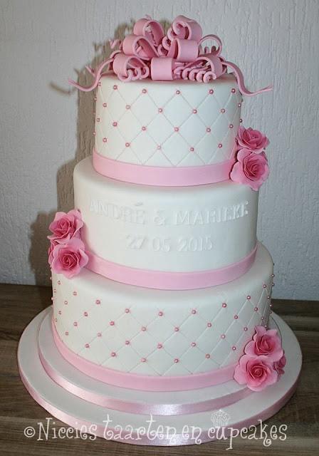 Geliefde Niccies taarten en cupcakes Hoofddorp: Bruidstaarten OO66