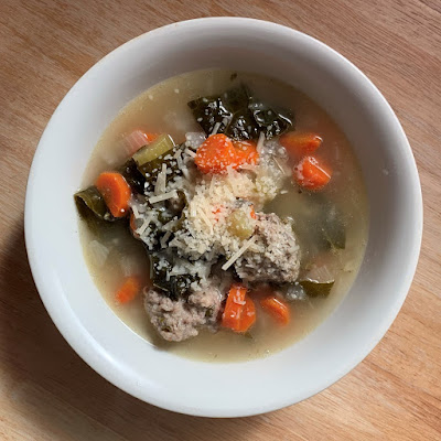 Mini Meatball and Kale Soup