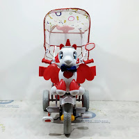 family f843gt unicorn bintang dobel musik tricycle