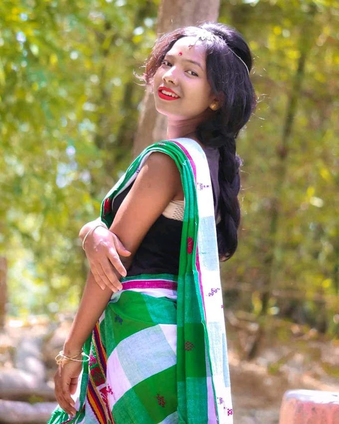 Santali traditional girl top 10 white panchi sharee 😍😍
