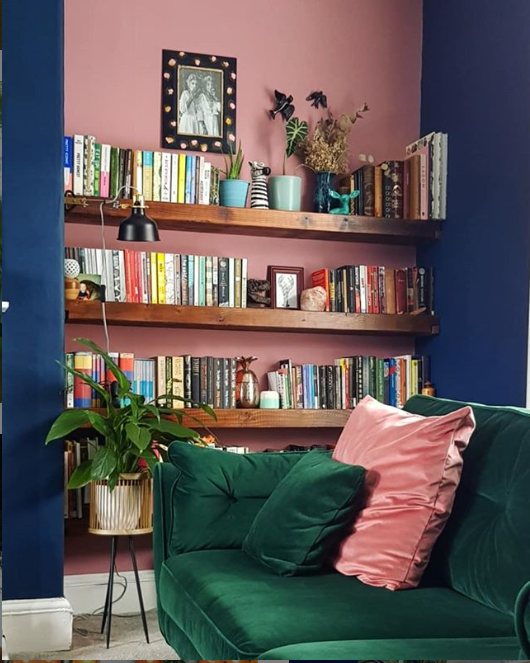 Pink Navy Room Inspiration All These Interiors