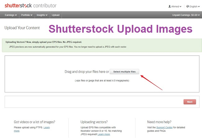 Shutterstock Upload Images: A How to get started Guide