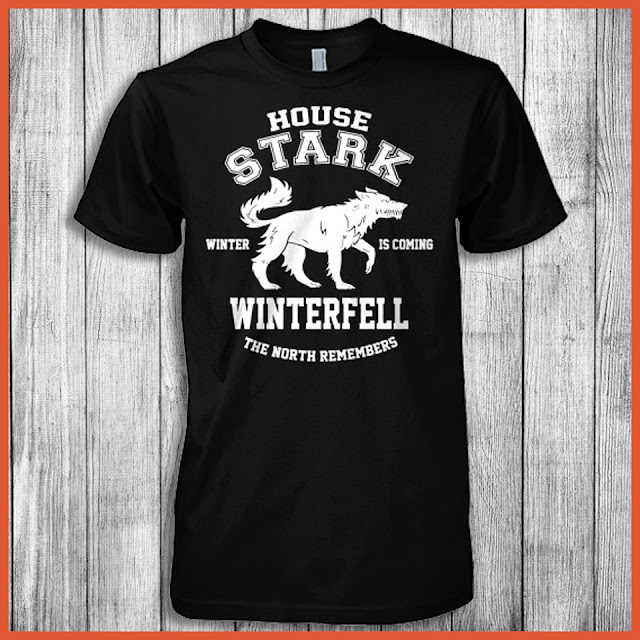 House Stark Winter Is Coming Winterfell The North Remembers (Game Of Thrones) Shirt