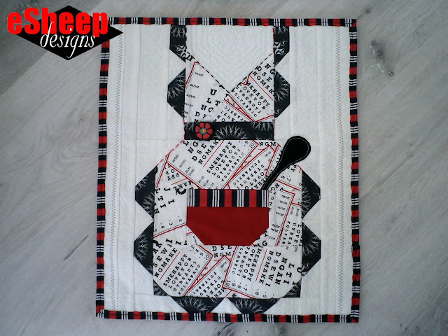 FQS Snapshots Kindred Kitchen Quilt Block crafted by eSheep Designs