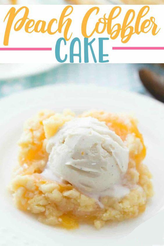 Easy Peach Cobbler Cake Recipe