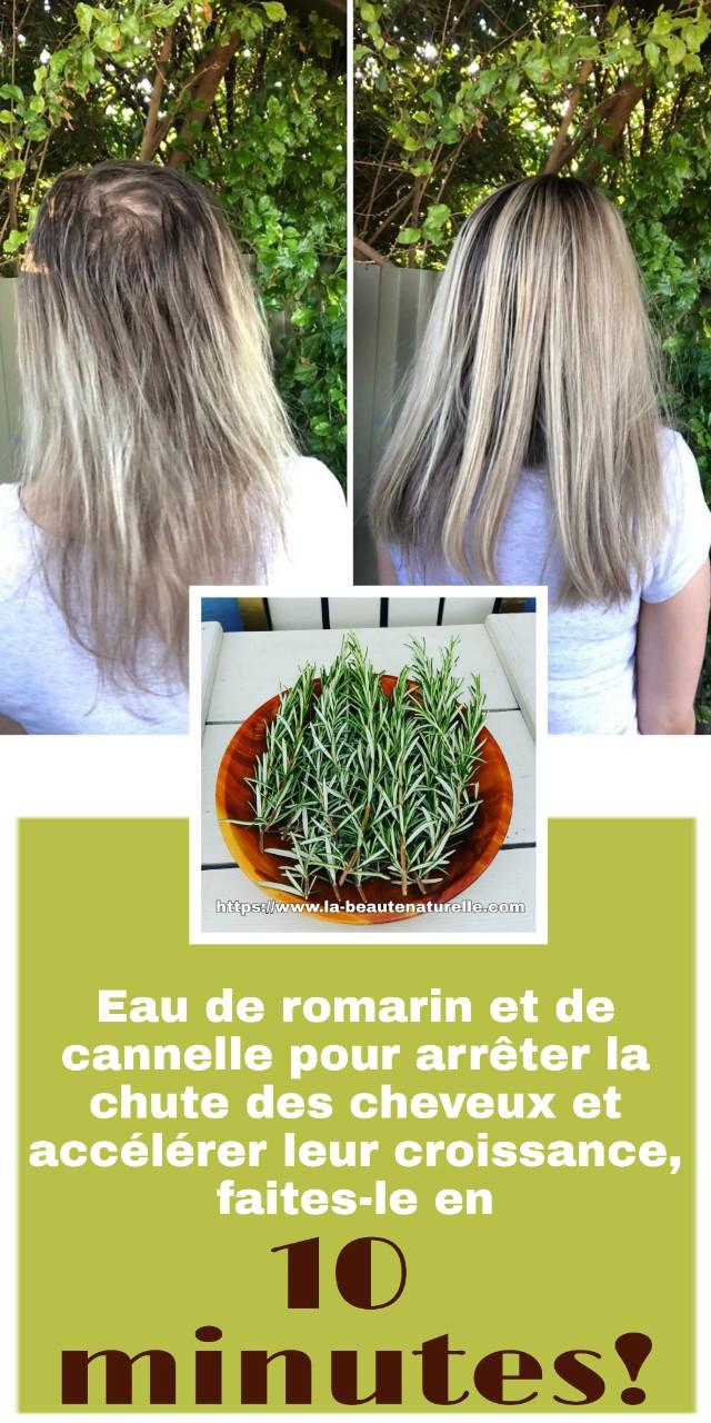 Eau de romarin et de cannelle pour arrêter la chute des cheveux et accélérer leur croissance, faites-le en 10 minutes!