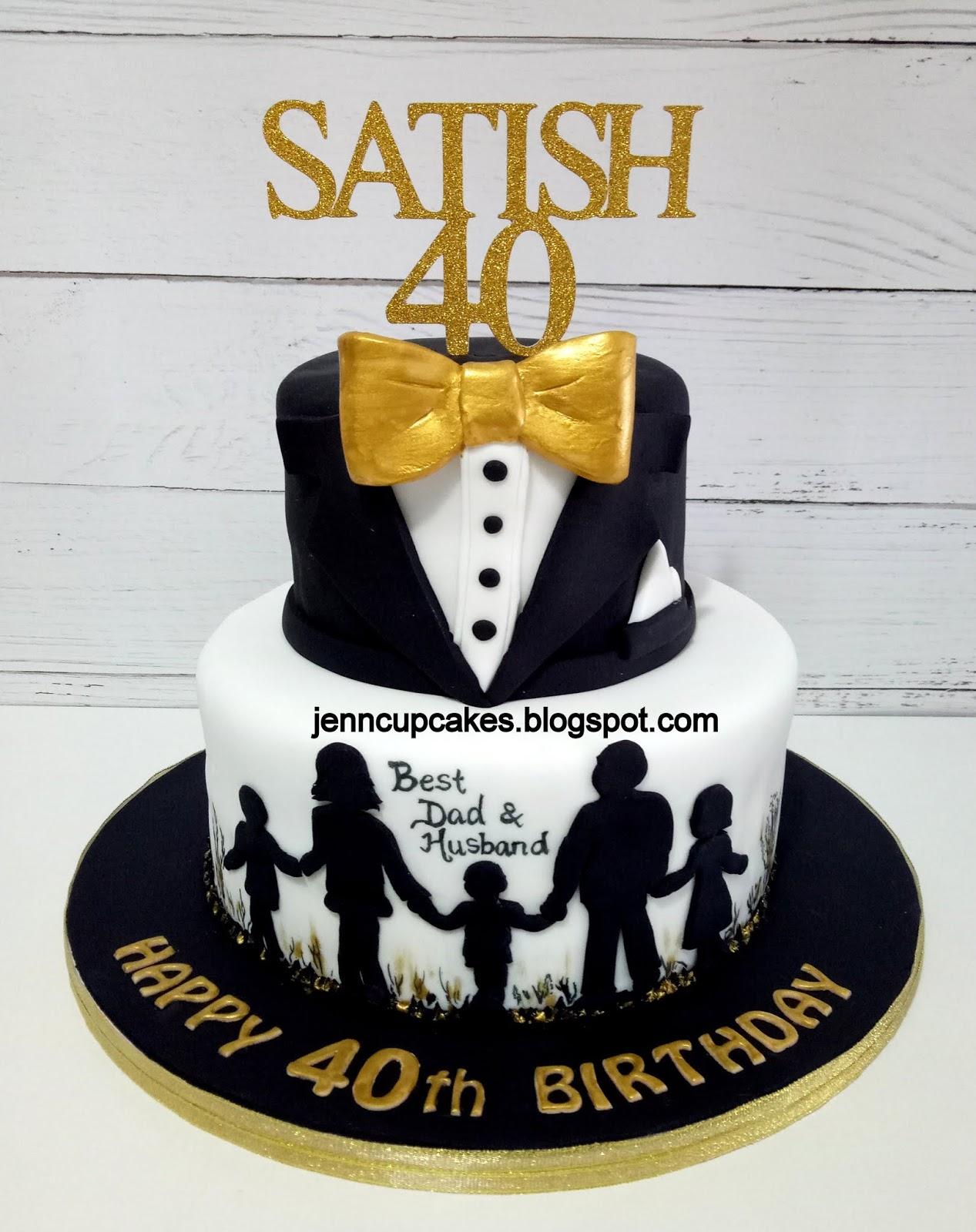Amazing Jenn Cupcakes Muffins 40Th Birthday Cake Funny Birthday Cards Online Fluifree Goldxyz