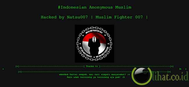 Situs Partai Keadilan Sejahtera (PKS) lumpuh