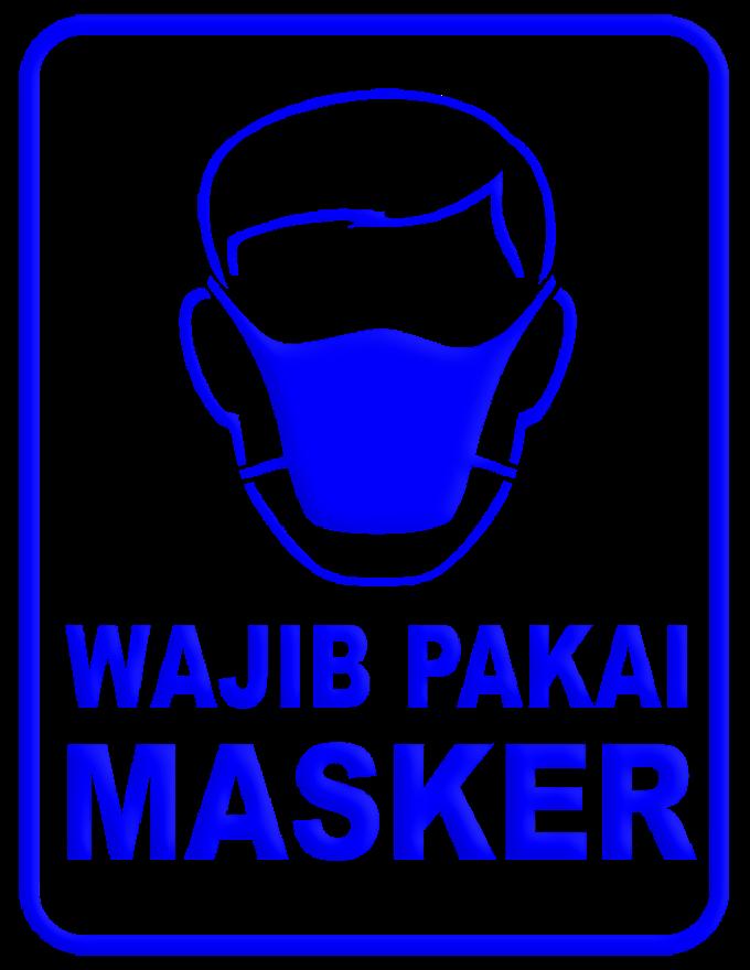 STICKER WAJIB PAKAI MASKER PNG
