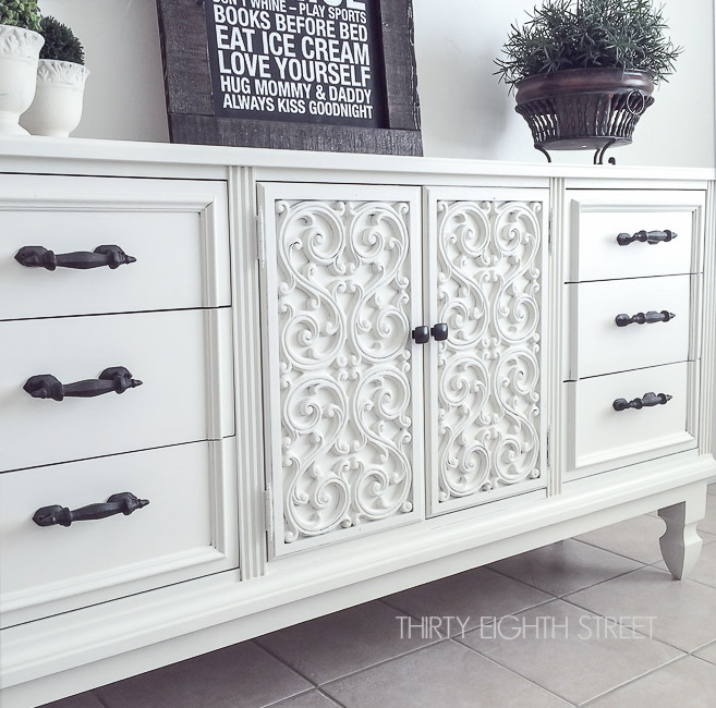 paint a buffet, paint furniture, chalk painted furniture, chalk paint tutorial, chalk paint furniture, adding legs to furniture, thrift store furniture, flipping furniture