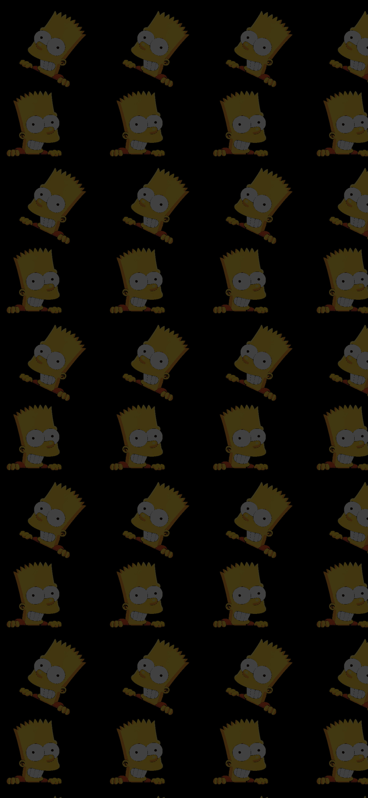 BART PATTERN BLACK WALLPAPER