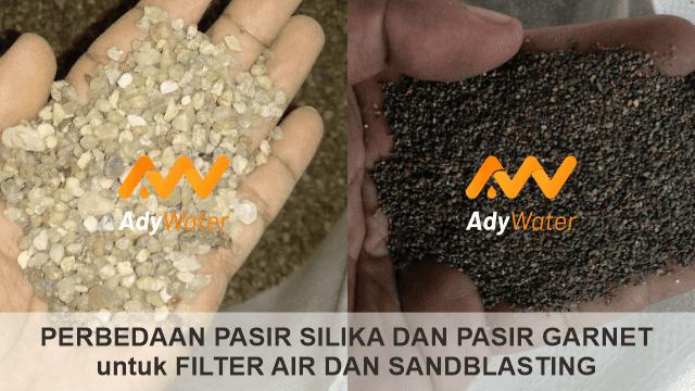 perbedaan pasir silika dan garnet