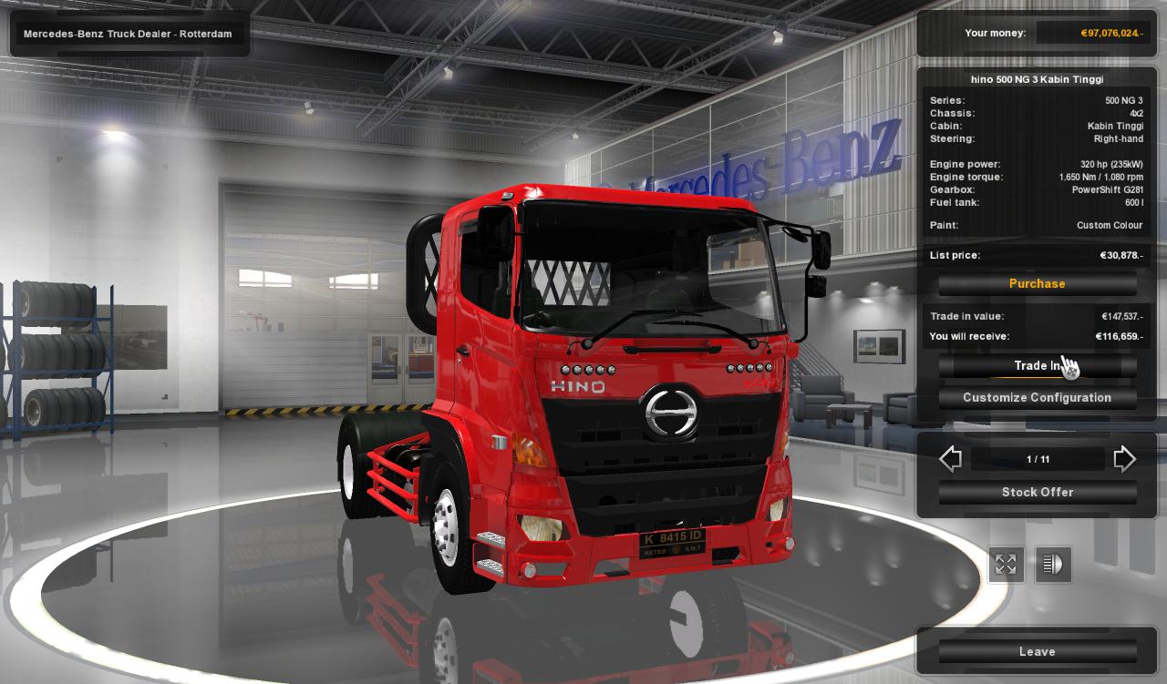 Mod Hino Ng V3 Smt Ets2 Simulator Mods Euro Truck 2 V130 Dan Indonesia