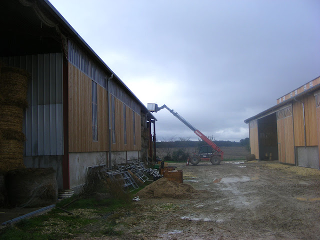 New cattle sheds, Indre et Loire, France. Photographed by Susan Walter. Tour the Loire Valley with a classic car and a private guide.