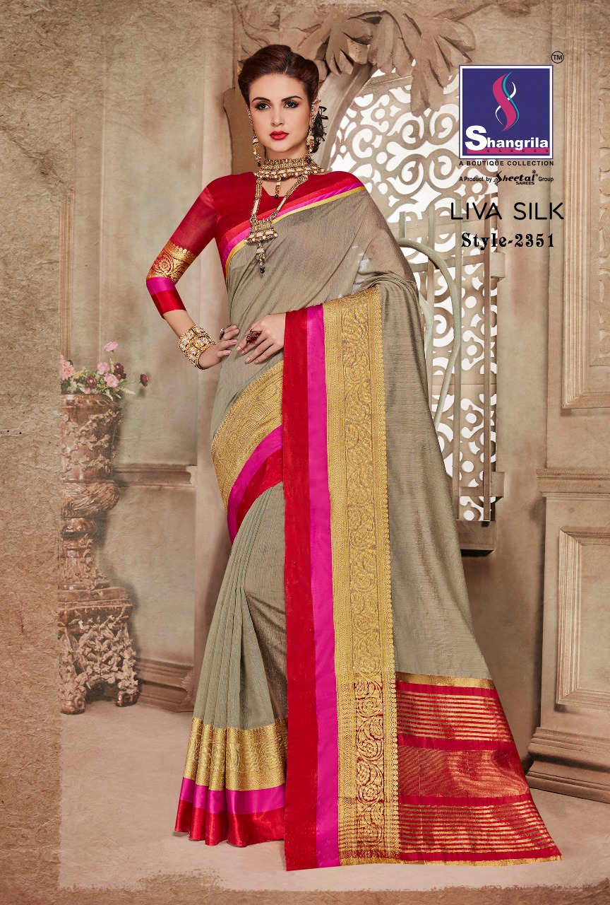 LIVA SILK – Latest New Arrival Designer Cotton Saree