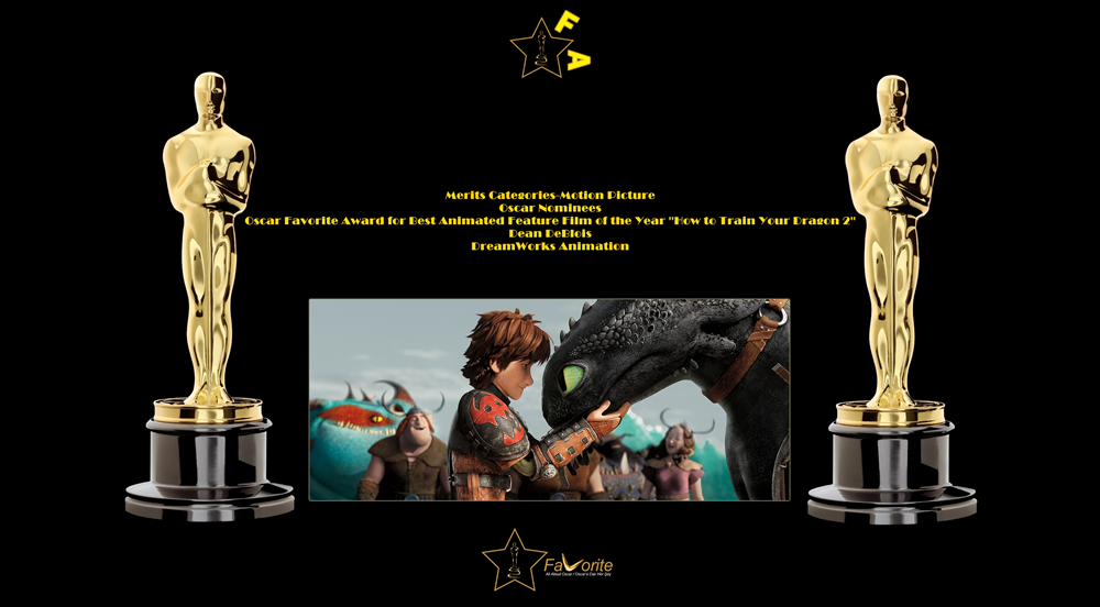 oscar favorite best animated feature film award how to train your dragon 2