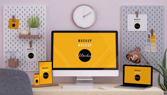 Responsive Devices Floating Mockup