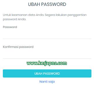 ubah password saat login emis pendis pai