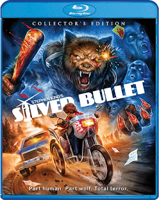 Blu-ray cover art for Scream Factory's Collector's Edition of SILVER BULLET!
