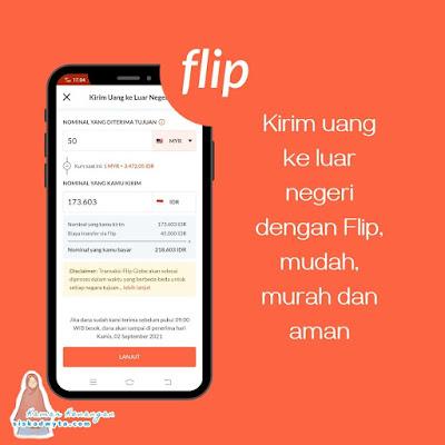 Flip aplikasi transfer uang ke luar negeri