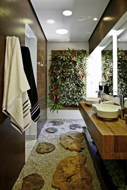 แบบห้องน้ำตกแต่งพื้นธรรมชาติ
