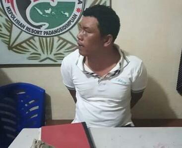 Tersangka bandar narkoba di Madina yamg diringkus polisi.