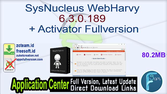 SysNucleus WebHarvy 6.3.0.189 + Activator Fullversion