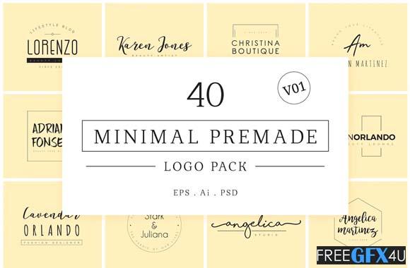 40 Minimal Premade Logo