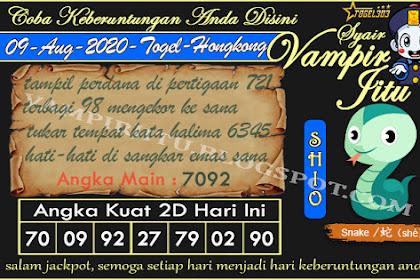 Syair Vampir Jitu Togel Hongkong Minggu 09 Agustus 2020