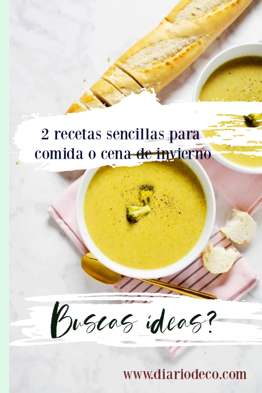 ideas de recetas para comidas y cenas de invierno