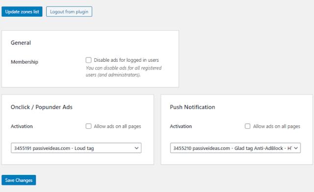 Propeller Ads Integration With Wordpress