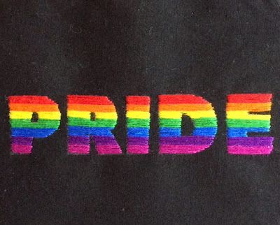 rainbow pride embroidery by Kate Hart
