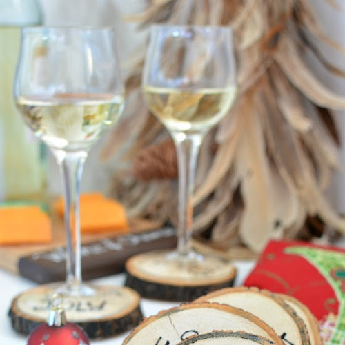 Fun DIY Wood Slice Coasters that will rock your holiday cocktails!