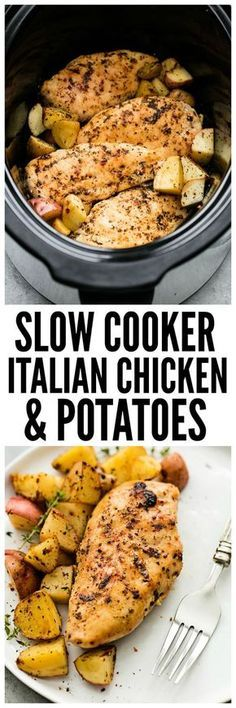 Slow Cooker Italian Chicken and Potatoes is such an easy meal to make but packed with such amazing flavor! The entire family will love this hearty meal in one. Hey hey it's Tiffany from Creme de la…