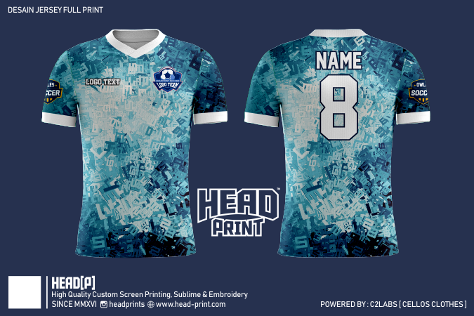 In Number Jersey Full Print Custom - Head Print