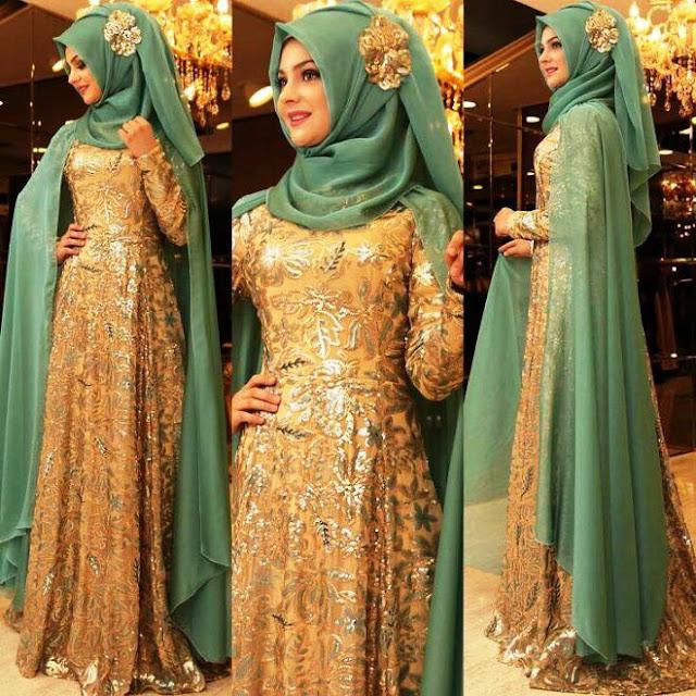 27 Inspirasi Gaun Muslimah Cantik Dan Trendy Tahun 2017