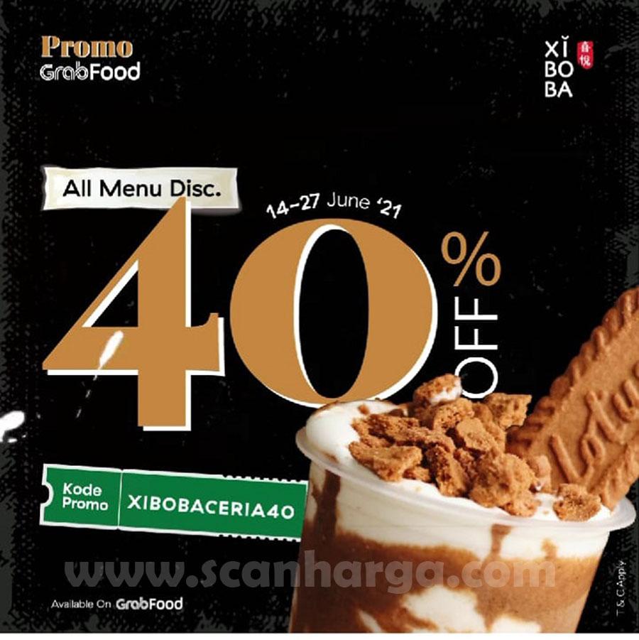 Promo XIBOBA GRABFOOD DISKON 40% All Menu